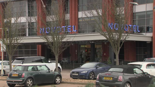 exterior shots of a novotel hotel at london heathrow airport that has been designated as a quarantine hotel for arrivals into the country on the 14th... - solitude stock videos & royalty-free footage