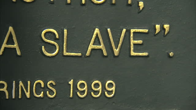 Exterior shots of a sign commemorating the life of Solomon Northup author of 'Twelve Years a Slave' on March 01 2014 in Saratoga Springs City