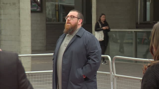 exterior shots of actor nick frost posing on the red carpet at the premiere of 'jawbone' at the bfi southbank on may 08 2017 in london england - nick frost actor stock videos & royalty-free footage