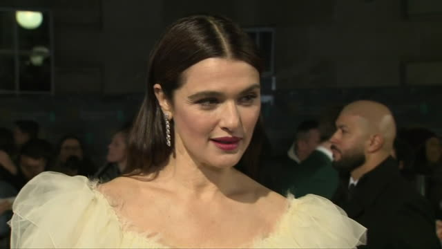 exterior shots of actor rachel weisz interview on the baftas red carpet on 10th february 2019 in london england - rachel weisz stock videos & royalty-free footage