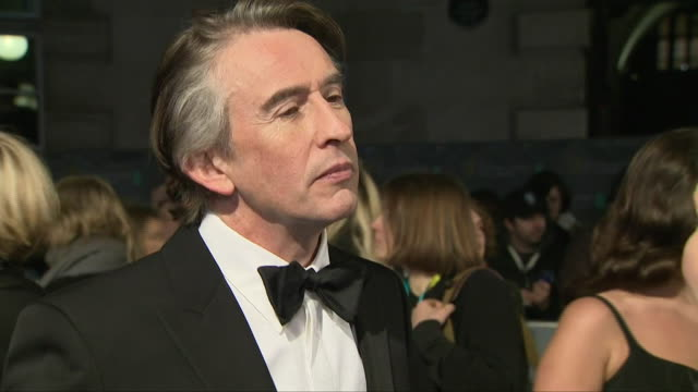 exterior shots of actor steve coogan interview on the baftas red carpet on 10th february 2019 in london, england. - steve coogan stock videos & royalty-free footage