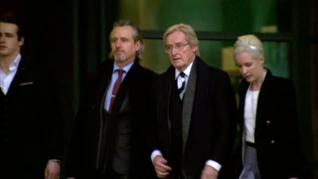 exterior shots of actor william roache departing from preston crown court william roache attends court charged with sex offences on january 14 2014... - ウィリアム・ローチ点の映像素材/bロール