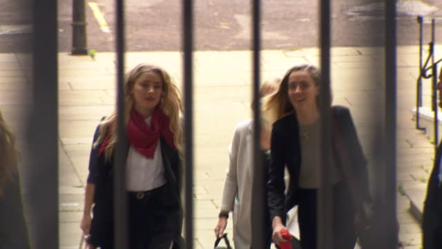 GBR: Johnny Depp and Amber Heard continue giving evidence in libel trial at the High Court
