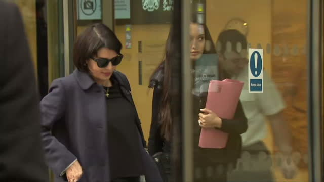 Exterior shots of actress Sadie Frost departing from court after giving evidence about phone hacking by Mirror Group Newspapers>> on March 12 2015 in...