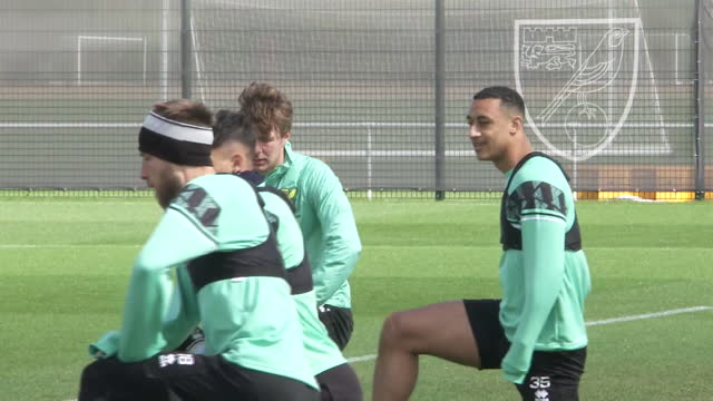 exterior shots of adam idah training for norwich. - sports training stock videos & royalty-free footage