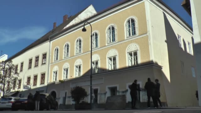 exterior shots of adolf hitler's birth house in braunau austria on october 27 2016 austrian government announced plans to demolish the threestory... - adolf hitler stock videos and b-roll footage