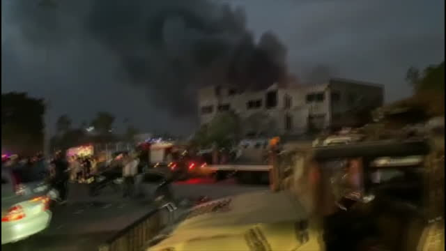 exterior shots of aftermath devastation after beirut port blast explosion, streets covered rubble on 4 august 2020 in beirut, lebanon. - chaos stock videos & royalty-free footage