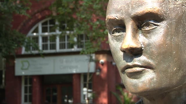exterior shots of alan turing statue on 15th july 2019 in manchester england - alan turing stock videos & royalty-free footage