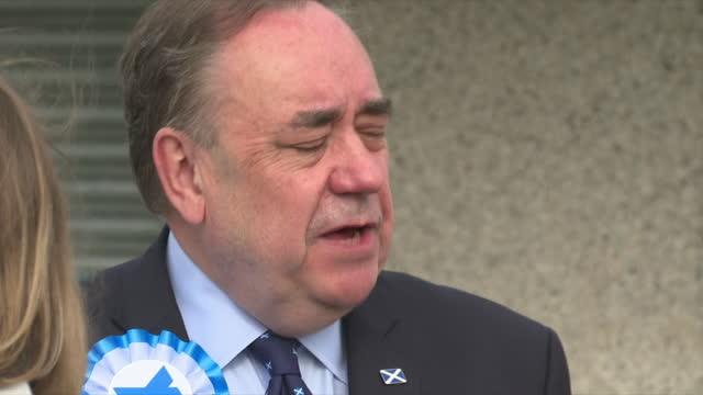 GBR: Alba Party leader Alex Salmond votes at his local polling station in Strichen, Scotland