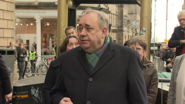 exterior shots of alex salmond giving statement outside the high court on 21 november 2019 in edinburg united kingdom - alex salmond stock videos & royalty-free footage