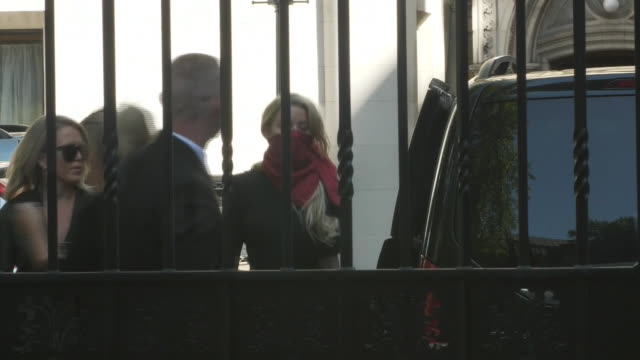 exterior shots of amber heard arriving at the high court before giving evidence during a libel trial involving johnny depp on 7 july 2020 in london... - johnny depp stock videos & royalty-free footage