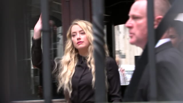 exterior shots of amber heard arriving at the high court rear entrance on 28 july 2020 in london united kingdom - johnny depp stock videos & royalty-free footage