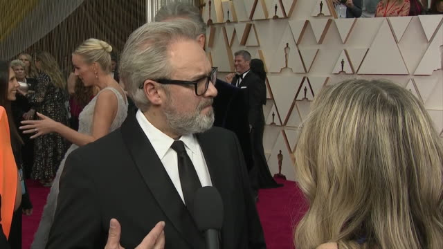 exterior shots of an interview with film director sam mendes at the 92nd academy awards on 9 february 2020 at the dolby theatre los angeles usa - sam mendes stock videos & royalty-free footage
