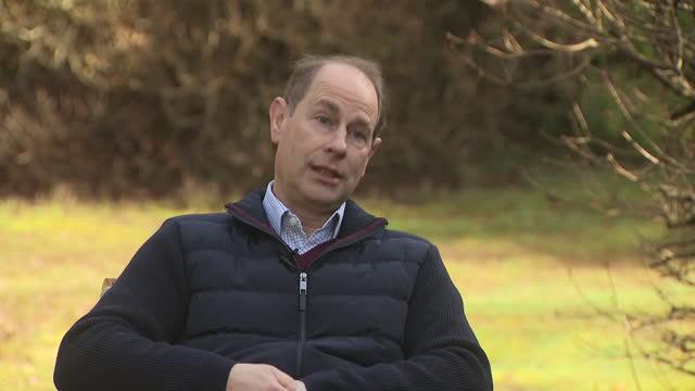 GBR: Prince Edward has said the Duke of Edinburgh is a lot better after being admitted to hospital