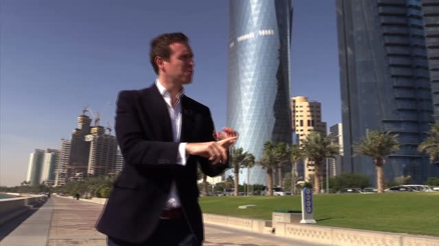 Exterior shots of an OPEC Oil Refinery Exterior shots of Ras Laffan Oil refinery Interior interview with Abdullah Bin Hamed Al Attiyah the former...