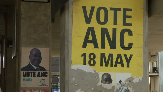 Exterior shots of ANC election posters featuring Jacob Zuma for the 2011 municipal elections ANC posters on walls in Soweto on January 08 2012 in...