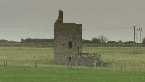 exterior shots of ancient cornish mines including south crofty tin mine, located within a unesco world heritage site on march 16, 2015 in pool,... - unesco world heritage site点の映像素材/bロール