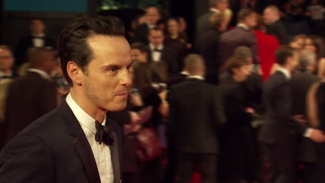 Exterior shots of Andrew Scott attending the Royal World Premiere of 'Spectre' at Royal Albert Hall on October 26 2015 in London England