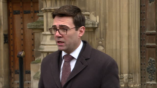 """exterior shots of andy burnham, mayor of greater manchester addressing the media following the publication of the anderson report, saying: """"this is a... - publication stock videos & royalty-free footage"""