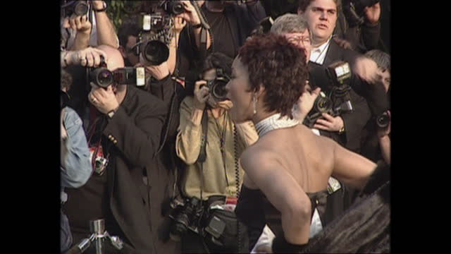 exterior shots of angela bassett on the oscars vanity fair party red carpet on 26th march 2001 in los angeles, california, united states. - vanity fair stock videos & royalty-free footage