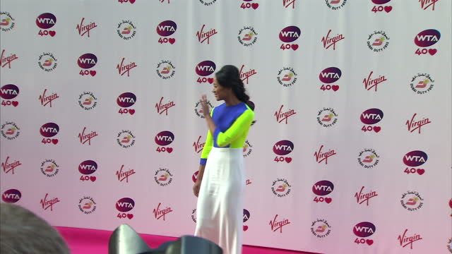 Exterior shots of Anne Keothavong on the WTA Pre Wimbledon party red carpet at Kensington Rooftop Gardens London Anne Keothavong WTA Pre Wimbledon...