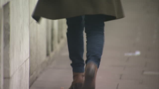 exterior shots of anonymous women walking down a street win the winter wearing ankle boots and flats on january 25 2017 in london england - gender stereotypes stock videos and b-roll footage