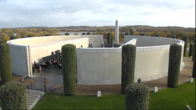 exterior shots of armistice day service at the national memorial arboretum on 11 november 2019 in staffordshire, united kingdom. - national memorial arboretum stock videos & royalty-free footage