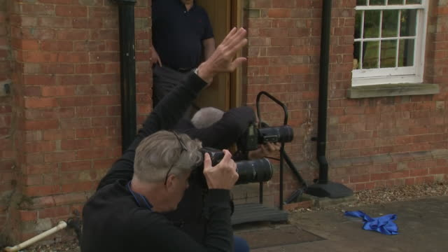 exterior shots of army veteran captain thomas moore posing for photographs on 16 april 2020 in london united kingdom - captain tom moore stock videos & royalty-free footage