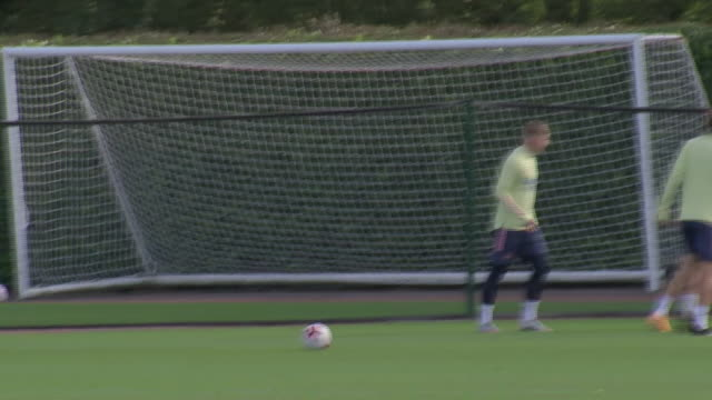 exterior shots of arsenal players training at arsenal's training centre at london colney on the 7th of october 2020. - practising stock videos & royalty-free footage