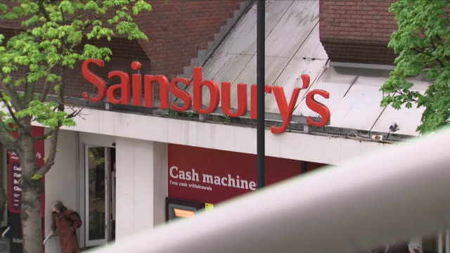Exterior shots of ASDA and Sainsbury's superstores on 28 April 2018 in London United Kingdom