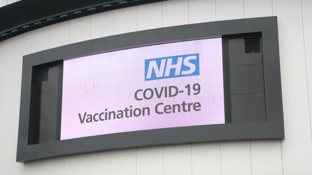 exterior shots of ashton gate stadium which is currently being used as a covid mass vaccination centre in bristol, uk on january 11, 2021. one of 7... - taking a shot sport stock videos & royalty-free footage
