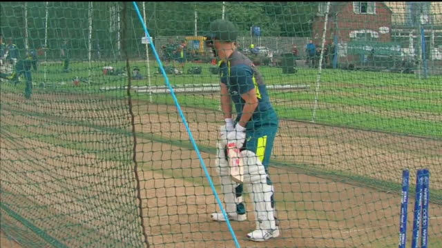 exterior shots of australia test cricket squad at training shot on 30 july 2019 birmingham, england - cricket stump stock videos & royalty-free footage
