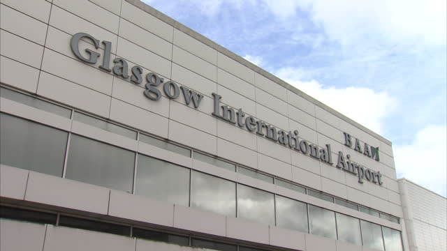 exterior shots of baa glasgow airport international arrivals area glasgow stock shots on may 10 2013 in glasgow scotland - glasgow international airport stock videos & royalty-free footage