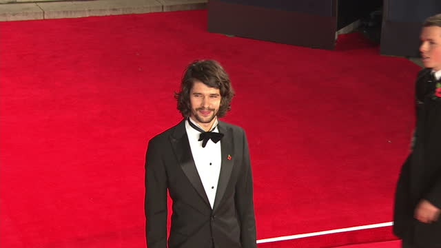 exterior shots of ben whishaw and brother james whishaw attending the royal world premiere of 'spectre' at royal albert hall on october 26, 2015 in... - ben whishaw stock videos & royalty-free footage