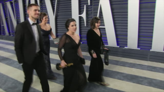 Exterior shots of Best Short Subject Documentary winner for 'Period End of Sentence' Rayka Zehtabchi on the red carpet of the 2019 Vanity Fair Oscar...