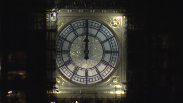 exterior shots of big ben chiming in the new year on december 31, 2019 london, england. - big ben stock videos & royalty-free footage