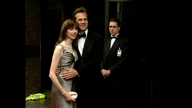 exterior shots of bill paxton, actor, arriving at apollo 13 premiere on 7 september 1995 hammersmith, england. - bill paxton stock videos & royalty-free footage