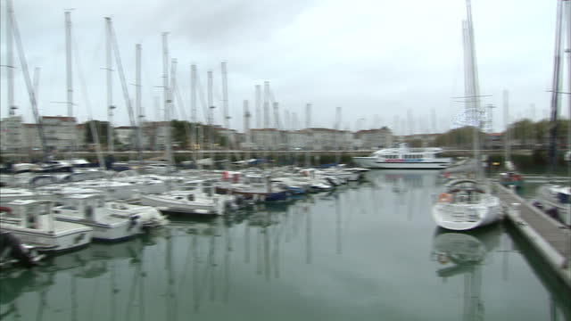 Exterior shots of boats around La Rochelle harbour on 31 October 2017 in La Rochelle France