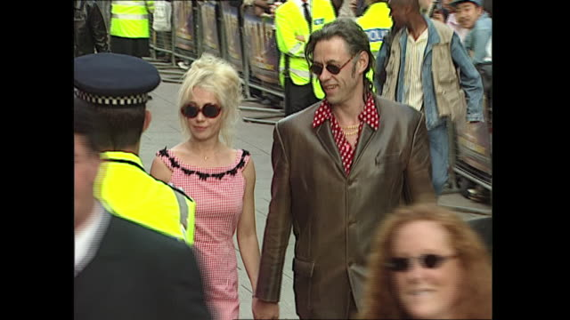 exterior shots of bob geldof at the 'the fifth element' red carpet premiere on 3rd june 1997 in london england - bob geldof stock videos & royalty-free footage