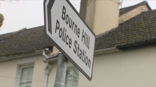 Exterior shots of Bourne Hill Police station with police vehicles parked in relation to the poisoning of former spy Sergei Skripal on 15 April 2018...