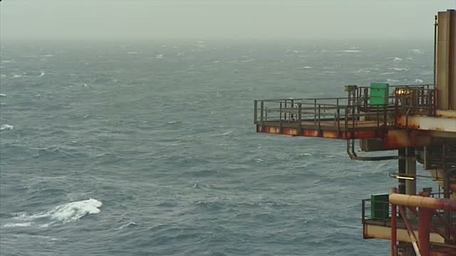 Exterior shots of BP Etap oil platform in the north sea on February 24 2014 in Aberdeen Scotland