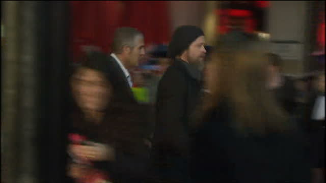 exterior shots of brad pitt arriving at london premiere of kick ass - kick ass film title stock videos & royalty-free footage
