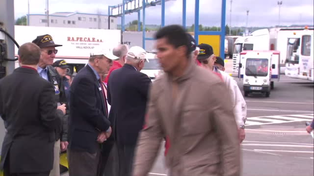 exterior shots of british & american d-day veterans board boat to france to mark 70th anniversary on june 03, 2014 in portsmouth, england. - veterans day stock videos & royalty-free footage