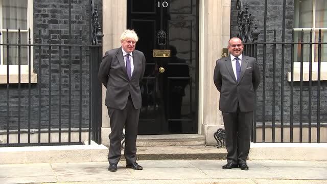 GBR: UK: Prime Minister Boris Johnson met HRH the Crown Prince and Prime Minister of Bahrain Salman Bin Hamad al-Khalifa at Downing Street.
