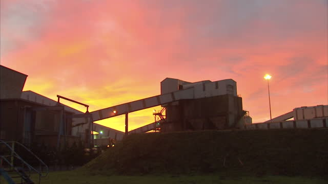 Exterior shots of buildings at Kellingley Colliery in the early morning on the pit's last day of mining operations>> on December 18 2015 in Beal...
