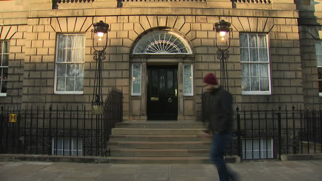 Exterior shots of Bute House the official residence of the First Minister of Scotland Nicola Sturgeon MSP with its distinctive sandstone stonework...