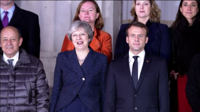 Exterior shots of Cabinet ministers including Foreign Secretary Boris Johnson and Defence Secretary Gavin Williamson gathered on the steps outside...