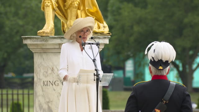 GBR: The Duchess of Cornwall visits Chelsea Pensioners