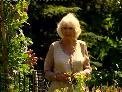 Exterior shots of Camilla Duchess of Cornwall walking around Sir Harold Hillier Gardens being shown various plants and flowers around the Garden...