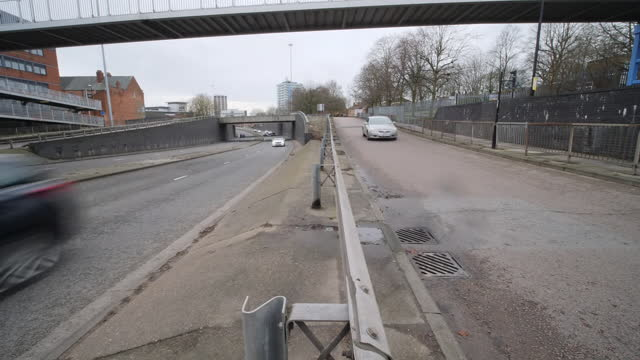 exterior shots of cars driving on a dual carriageway on 20th february 2021 in coventry, united kingdom. - coventry stock videos & royalty-free footage